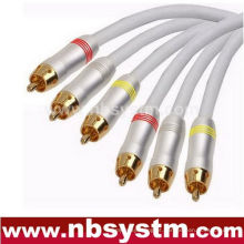 3xRCA PLUG to 3xRCA Plug Vermelho / Branco / Amarelo / Azul / Verde