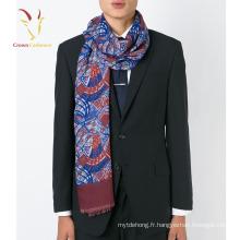 Châle d'écharpe de cachemire imprimée profonde de mode des hommes