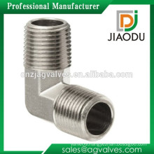 High quality and low price forged nickel-plating 1/2 or 3/4 inch of npt brass male elbow fitting for water