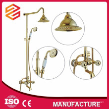 slide shower bar set brass shower faucet set hard tube brass bath shower set