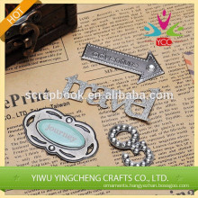 2014 shabby chic new product decoration thin metal sticker