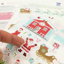Niños de papel de arte etiquetas de etiquetas de Santa Claus de impresión Papá Noel