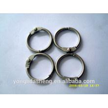 Anillo de la forma del metal O y gancho y lazo con precio barato y orden bajo