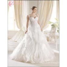 China-nach Maß Braut-Luxuxhochzeits-Kleid-Strand-Spitze Applique