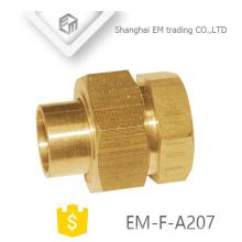 EM-F-A207 Adaptador de rosca hembra conector hembra de alta calidad con tuerca hexagonal