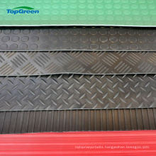 wholesale anti slip broad wide ribbed rubber mat flooring