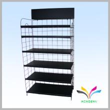 Supermarket custom powder coated metal wire display retail shelf
