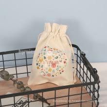 Großhandelslogo gedruckte kundengebundene Leinwandverpackungsbeutel
