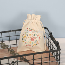 Wholesale logo imprimé personnalisé sac d'emballage en toile