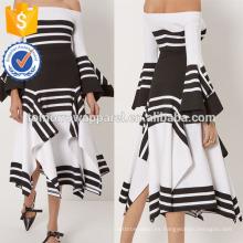 Nueva moda blanco y negro bufanda de la raya del verano mini falda diaria DEM / DOM fabricación al por mayor de la moda de las mujeres (TA5015S)
