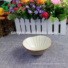 2015 Vietname estilo atacado personalizado impresso tigela de cerâmica