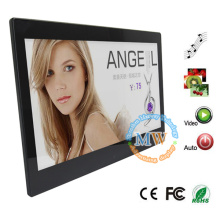 13 inch HD 1080p video LCD advertising photo frame with motion sensor