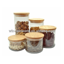 2014 Clear Borosilicate Glass Candy Display Jars With Lid