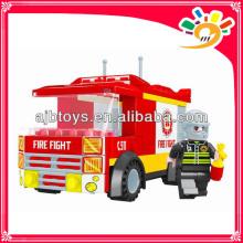 Hot sale blocks toys 120 pieces blocks toy truck blocks fire fighting truck toy