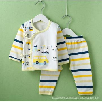 Ropa de bebé impresa de algodón para niños