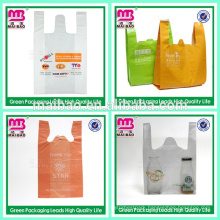 10 years exportation best and top class bio degradable t-shirt bag