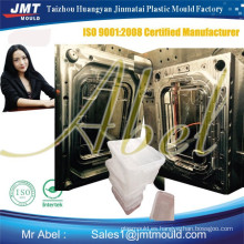molde de caja de volumen de inyección de plástico de corredor frío