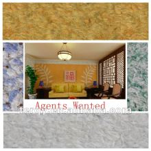 AGENTS WANTED-100% natural fibre colorful textured wall coating paint