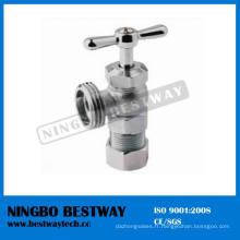 Vanne d'angle de compression en laiton plaquée par nickel pour la machine à laver (BW-A43)
