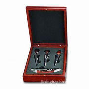 Corkscrew Bar Set, Includes Bottle Stopper and Corkscrew, Made of Stainless/Plastic Material