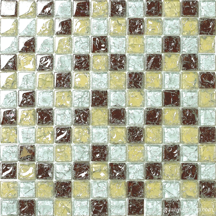 Color Mixed Cracked Crystal Glass Mosaic