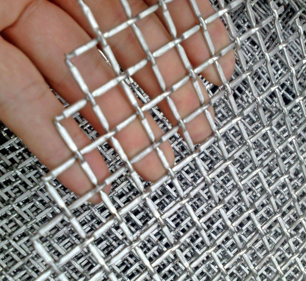 Double berkerut Wire Mesh Stainless Steel