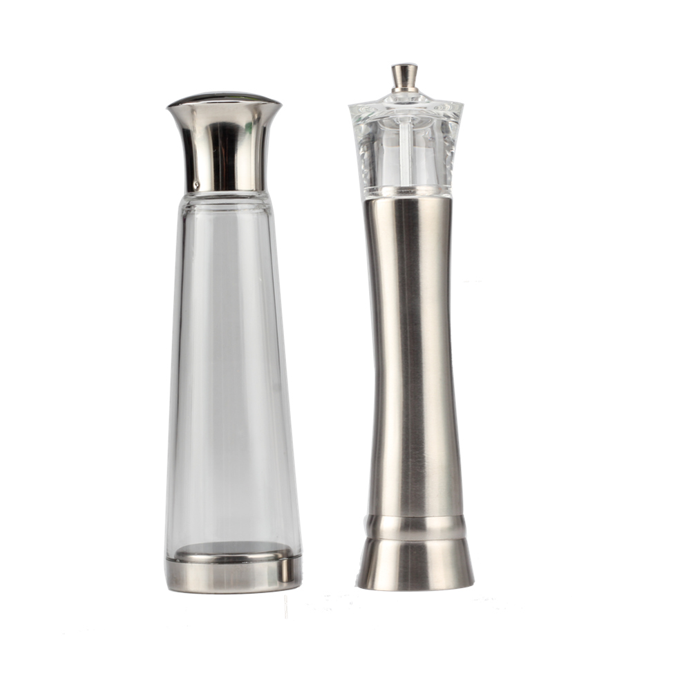 Glass Salt Shaker And Ss304 Pepper Grinder