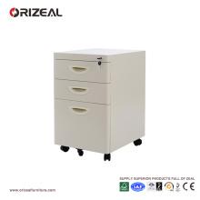 Classeur de bureau à tiroir, caisson mobile en acier avec 4 tiroirs
