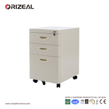 Office storage drawer filing cabinet, mobile pedestal steel with 4 drawers