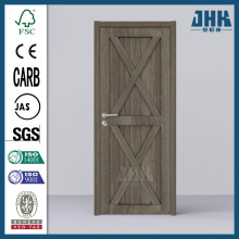 JHK Solid Core Unfinished Arch Top V-Grooved Knotty Pine Single Prehung Door Interior