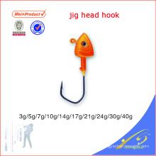 JHL013 diferentes tamaños cebo artificial cabeza de pesca a granel cabeza cabezas gancho