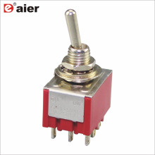 MTS-302 ON-ON Red 3 Pole 9 Pin Toggle Switch