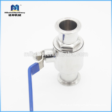 Tri-clamp stainless steel 2 way ball valve