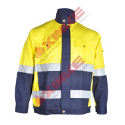 En11611 Cn Fire Retardant Winter Jacket with Reflective Tapes