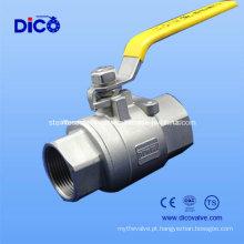 Turquia Tipo Válvula de esfera de aço inoxidável 2PC com DIN