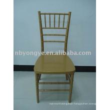 NO PAINT golden plastic chiavari chair