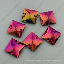 Pierres cristallines en cristal de forme carrée moyenne en cristal (DZ-3068)