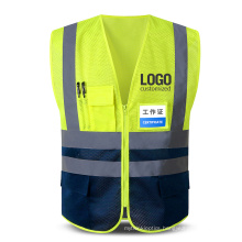 Multi Pockets Hi Vis Reflective Mesh Breathable Workwear