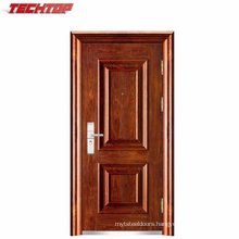 TPS-036 Cheap Exterior Single Leaf Mild Steel Door
