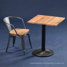 Mesa cuadrada industrial y silla del café de la plaza (SP-CT677)