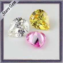 Pierres de zircone à facettes variées en couleur CZ Stones