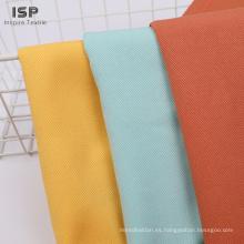 Ejemplos tejidos del precio de la tela de sarga de rayón teñido