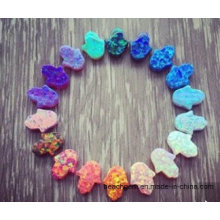 Created Opal Hamsa Shape for Jewelry Setting