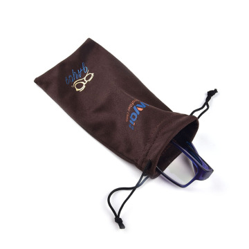 Silver Logo Microfiber Pouch for Cell Phone