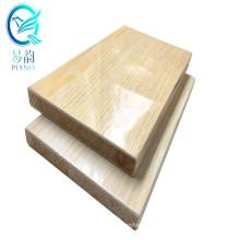 Qinge 44mm blockboard wood Melamine Faced Block Board Pine Poplar Alcacia Core with CARB Certificate