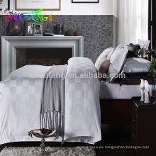 Ropa de hotel 2018 / certificado ISO9001 juego de cama de hotel barato conjuntos de cama de cuatro estaciones de hotel