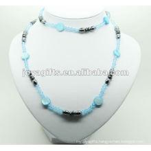 Fashion Hematite Blue Glass Beads Wrap