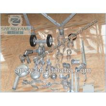 pièces de clôture de maillon de chaîne en métal galvanisé