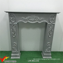 European Style Green Vintage Wood Fireplace Mantel