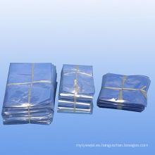 Cristal Clear Clase de alimentos cloruro de polivinilo Heat Shrink bolsas planas con cola para cajas y todos los artículos de envoltura (XFB06)